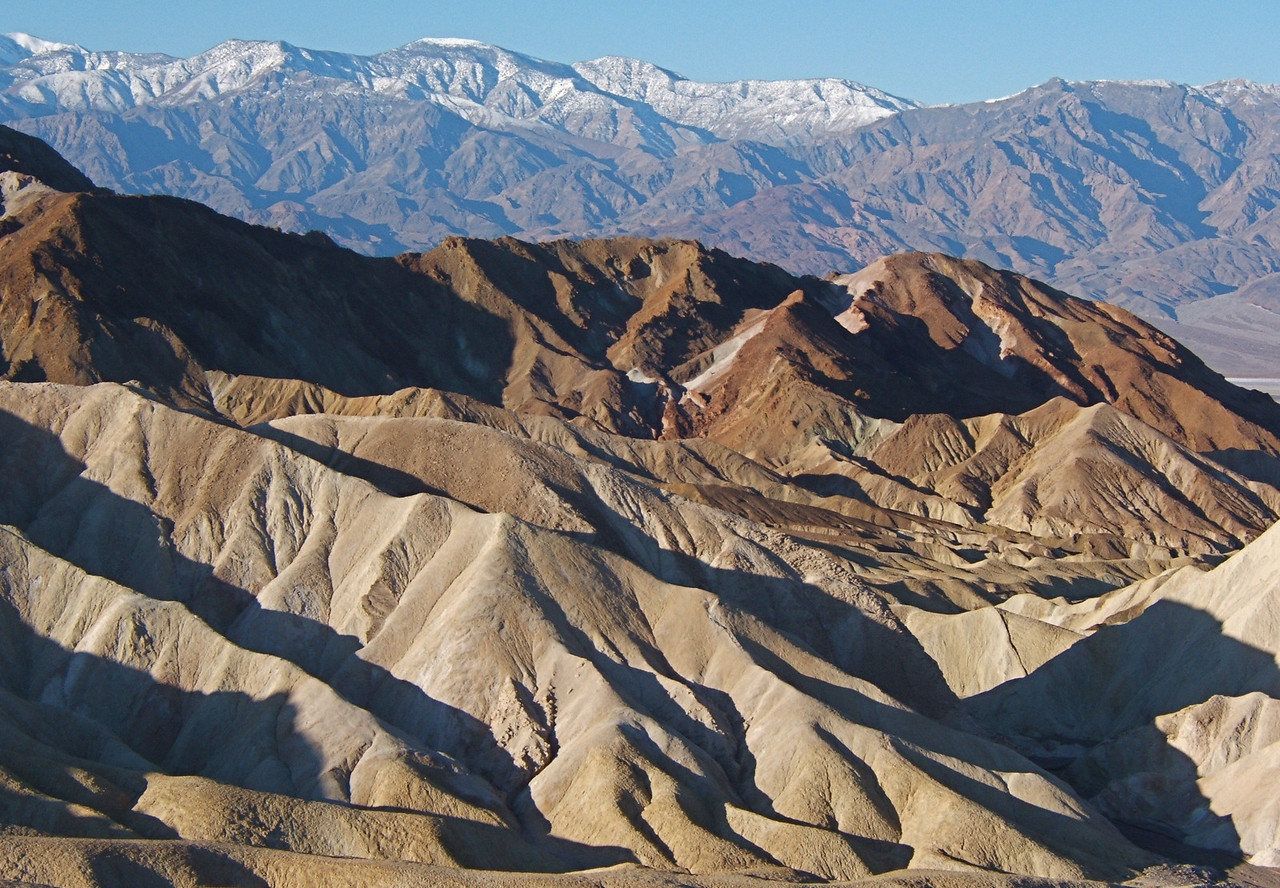 Morning light at Zabriskie Point