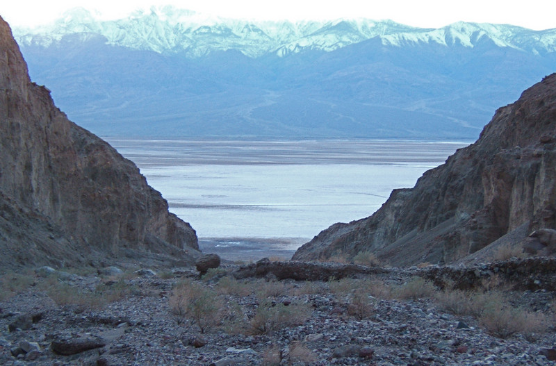 Mouth of Bad Canyon near Badwater