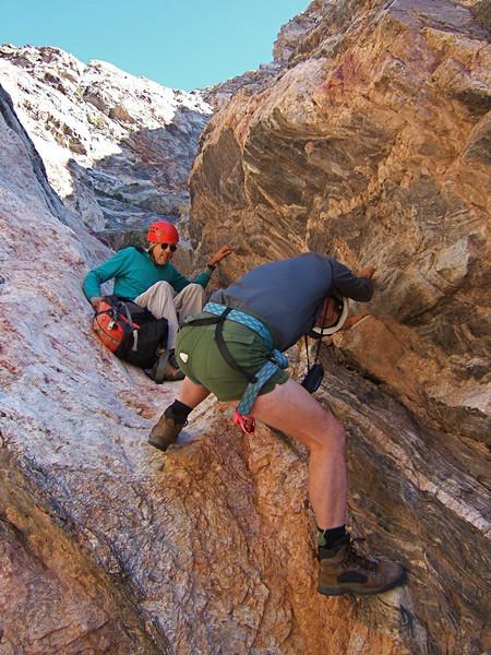 Bill W downclimbing