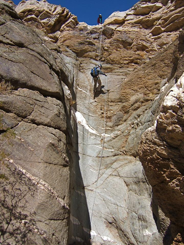 Rappel 1, Keane Canyon