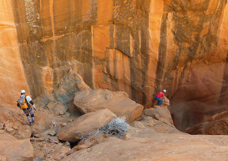 Day 1 - Fooling Around - Dave is checking out the Swirly Slot in the second set of narrows.