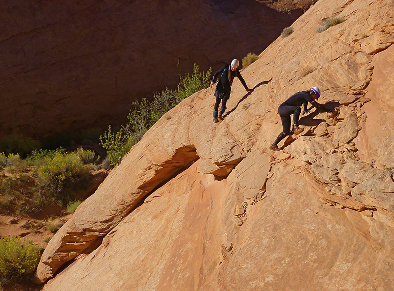 Day 1 - Fooling Around - Exiting the canyon on the South side after returning to pick up our packs.