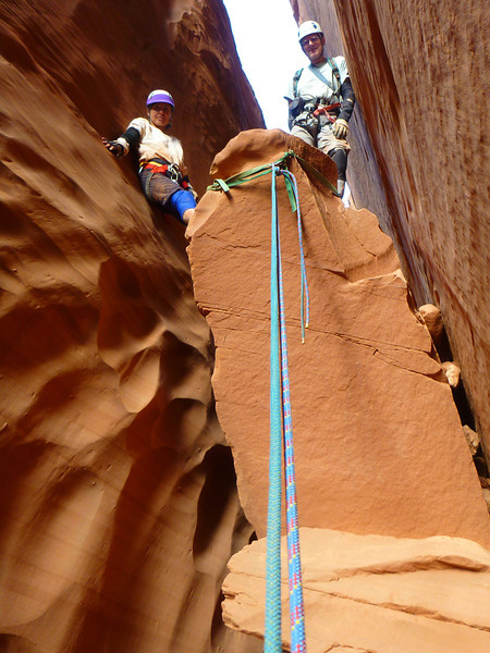 Day 3 - Shenanigans - the rappel to above the final pool