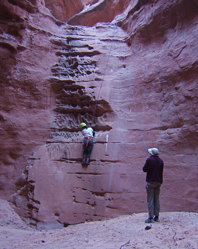 Climbing for Fun, Last Rappel - Main North Fork Robbers Roost Canyon