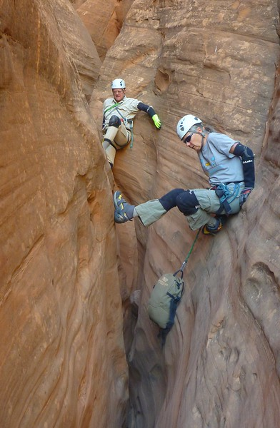 Trachyte Canyons - Day 2<br /> Hog No 1  (West) - Hal, Joan, Rich, Jeff