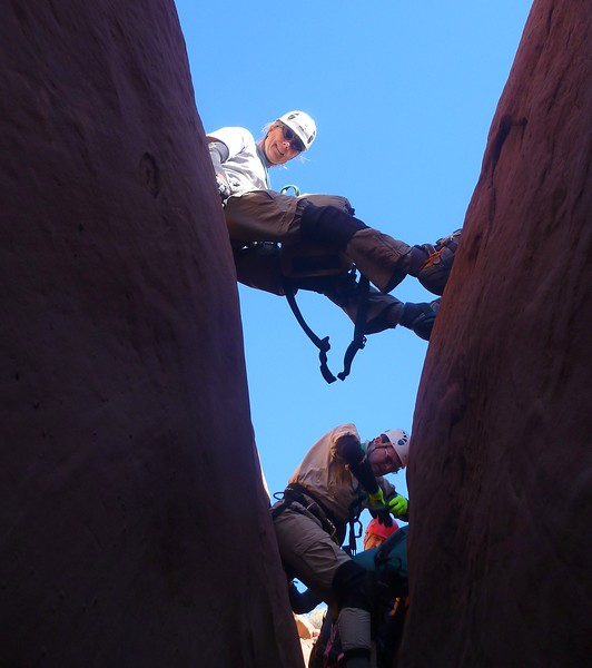 Trachyte Canyons - Day 2<br /> Hog No 1  (West) - Hal, Joan, Rich, Jeff<br /> This was a very good canyon
