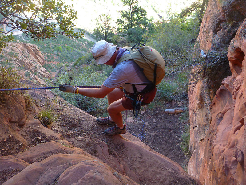 Lady Mountain Climb<br /> We rappelled the hard moves on the descent