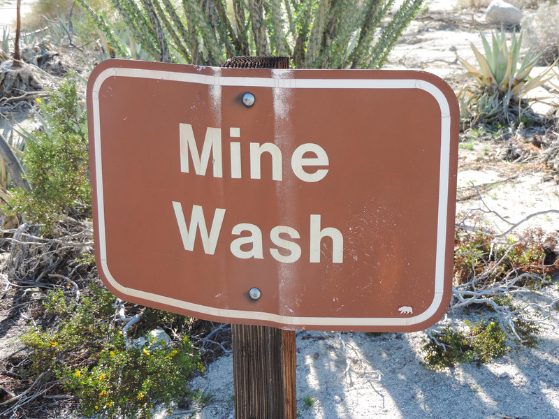 Mine Wash Sign
