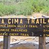 La Cima Sign