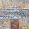 Wild Horse Trail Sign
