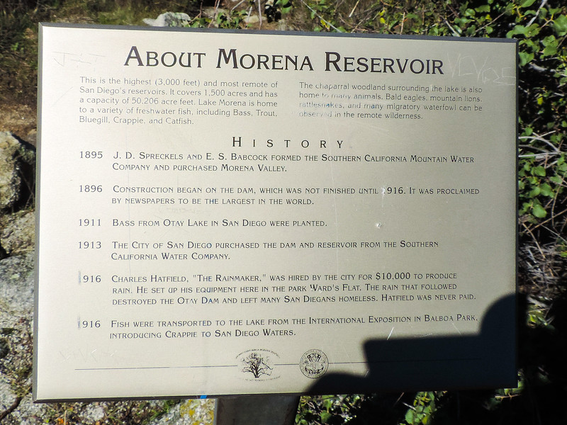 About Morena Reservoir