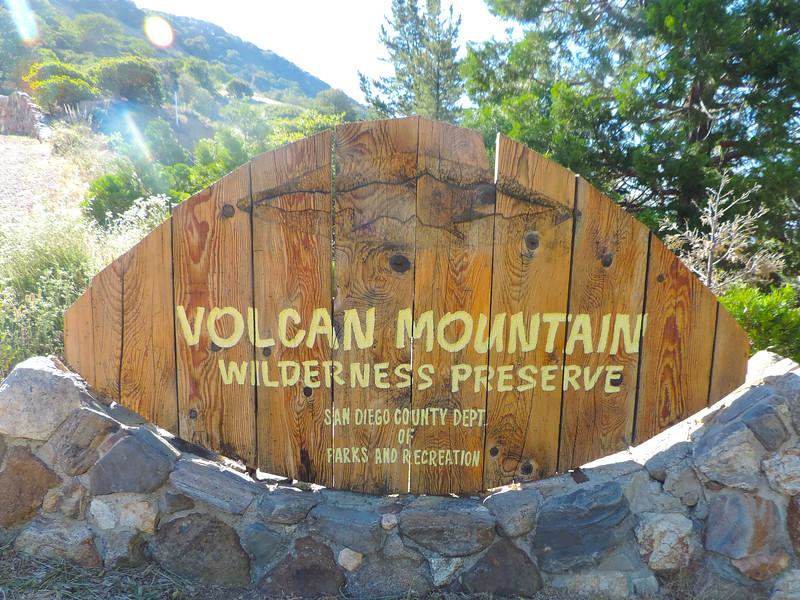 Volcan Mt Sign