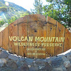 Volcan Mt Sign