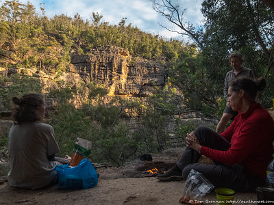 Happy hour from our scenic camp cave and ledge