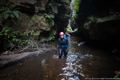 Margot enjoying the tripling of her canyoning trips!