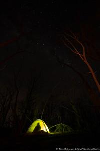 Torchlight, firelight and starlight