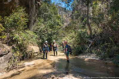 Kylie, Kris and Rachel in Bungleboori Creek