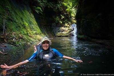 Long pool below a cascade