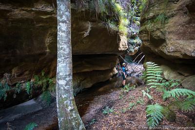 Rachel in a side canyon