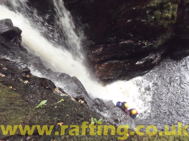"Canyoning the Birks of Aberfeldy in Perthshire, Scotland with Splash. <a href=""http://rafting.co.uk"">http://rafting.co.uk</a>"
