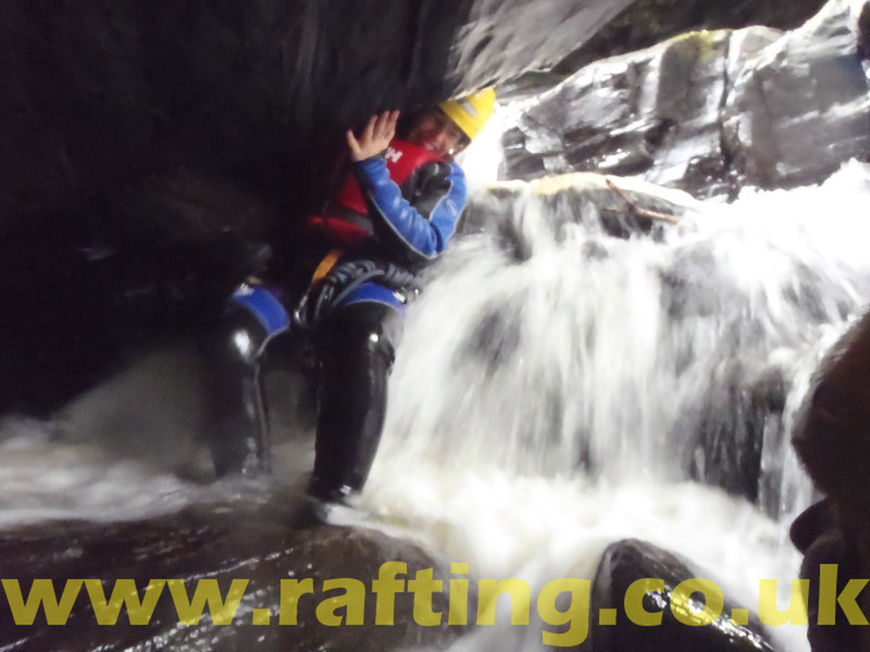 """Canyoning the Birks of Aberfeldy in Perthshire, Scotland with Splash. <a href=""""http://rafting.co.uk"""">http://rafting.co.uk</a>"""