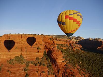 In a Balloon over Sedona, Arizona, November 2010