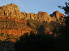 Sunset in Zion from our hotel.