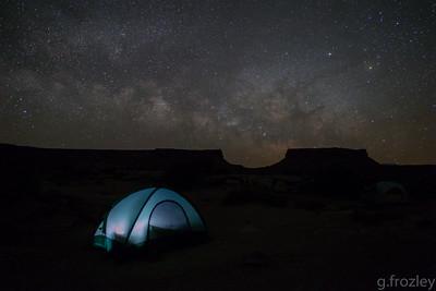Bob's tent. Murphy Hogback campsite, White Rim Trail, Canyonlands National Park, UT.
