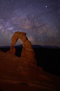 Delicate Arch with the Milky Way Galaxy, Arches National Park, UT.