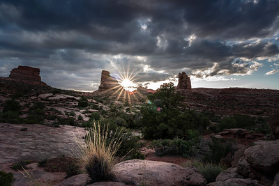 Sunset on Amasa Back, Moab, UT.  I pedaled my way up the Hymasa trail with all my camera gear on my back to get this one.  Whew!