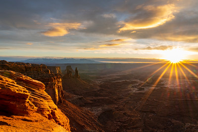 Late December sunrise over Canyonlands National Park.  Moab, UT.