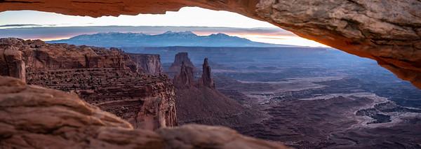 Late December sunrise at Mesa Arch.  Canyonlands National Park, UT.