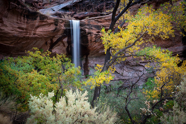 Caught this waterfall on our way into Moab along the river road.