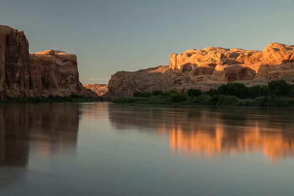 Last light on the Colorado River, Moab Utah.