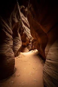The narrows of Buckskin Gulch, Utah.
