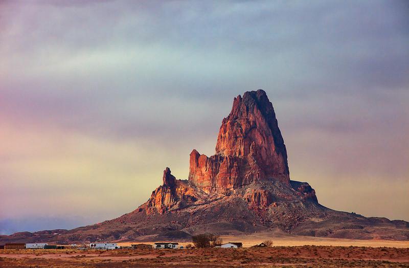 Agathlan, near entrance to Monument Valley, Arizona (March 2014)