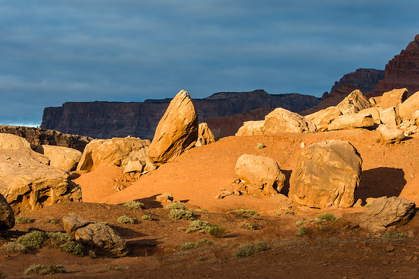 Dawn Light and Boulders