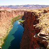 Just beyond the Navajo Bridge is Lees Ferry which is the official starting point of the Grand Canyon rafting tours.