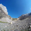 08/09/17: Another Go-Pro shot of Sentinel Pass with a fish-eye lens.