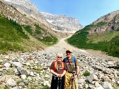 08/07/17: Taking a break along the Plain of Six Glaciers Trail.