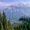 From the base of the gondola station (in the mid-background) to the crest of Sulphur Mountain took us 8 minutes in the gondola. In the background is Mount Rundle, 9,675'.