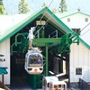The gondola is a modern, fully enclosed four-passenger cabin. The attendants allowed Diane and I to have our own private gondola.