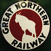 This is the official logo of the Great Northern Railway.