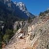 Descending the Inspiration Point Trail back to Jenny Lake.