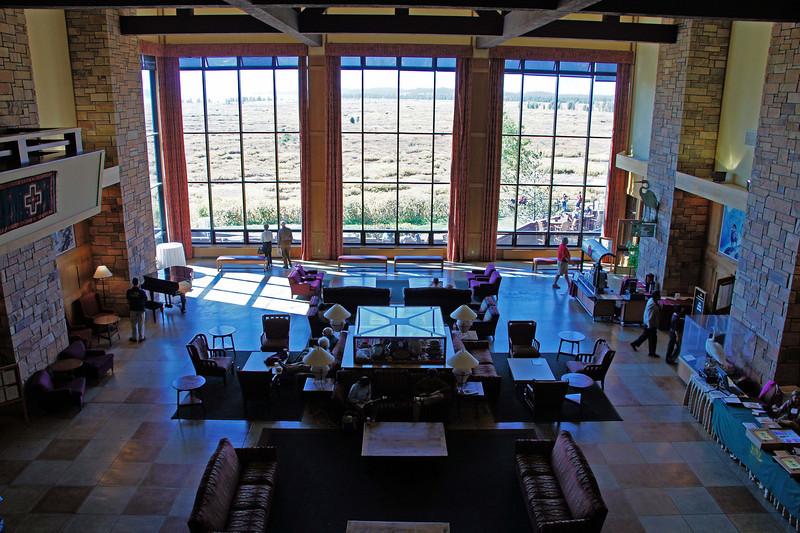 Main lobby area of Jackson Lake Lodge.