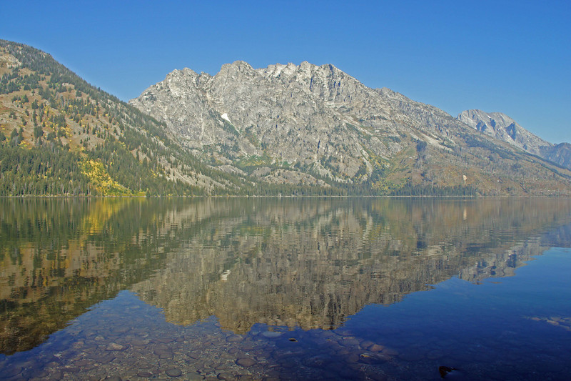 09/25/11: Jenny Lake, with Rockchuck Peak in the background..