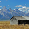 Another view of the Teton Range from Mormon Row.
