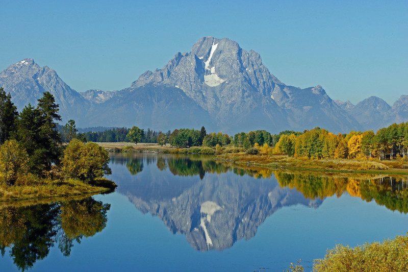09/26/11: A view of Mt.Moran (12,605 ft) from Oxbow Bend.