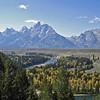 09/25/11: Teton Range from Snake River Overlook.