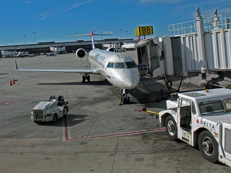 Flight from Salt Lake City to Jackson Hole.